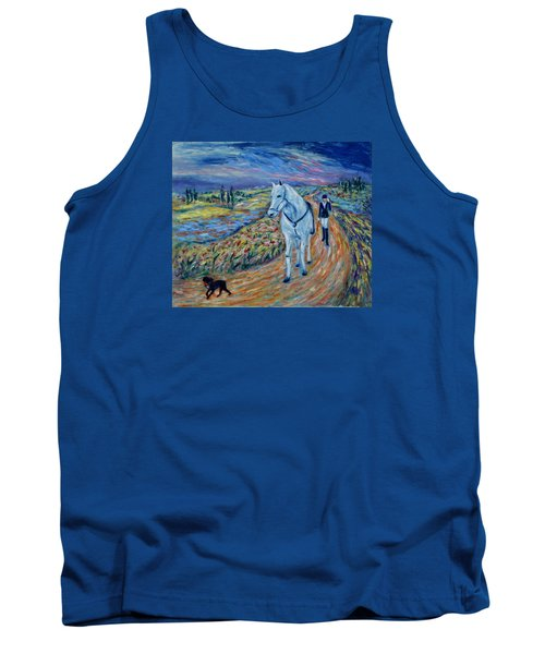 Tank Top featuring the painting Take Me Home My Friend by Xueling Zou