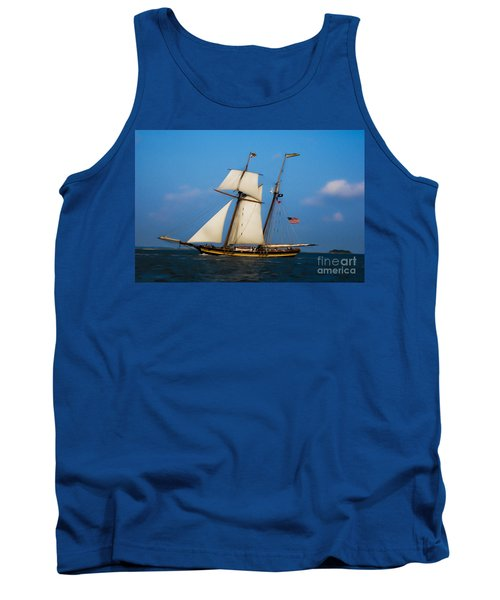 Tank Top featuring the digital art Tall Ships Over Charleston by Dale Powell