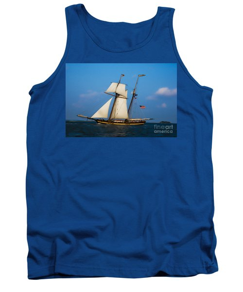 Tall Ships Over Charleston Tank Top by Dale Powell