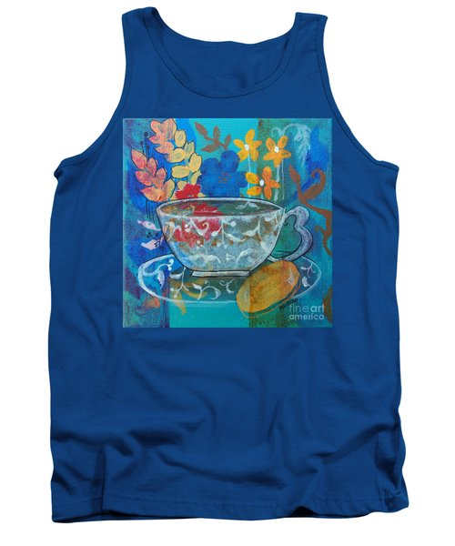 Tank Top featuring the painting Tea With Biscuit by Robin Maria Pedrero