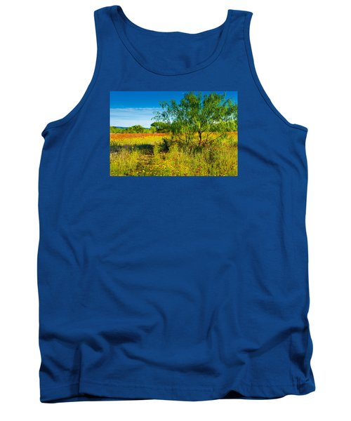 Tank Top featuring the photograph Texas Hill Country Wildflowers by Darryl Dalton