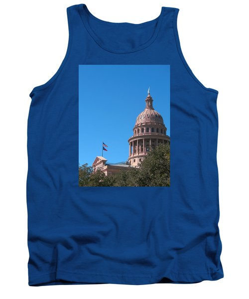 Texas State Capitol With Pediment Tank Top by Connie Fox