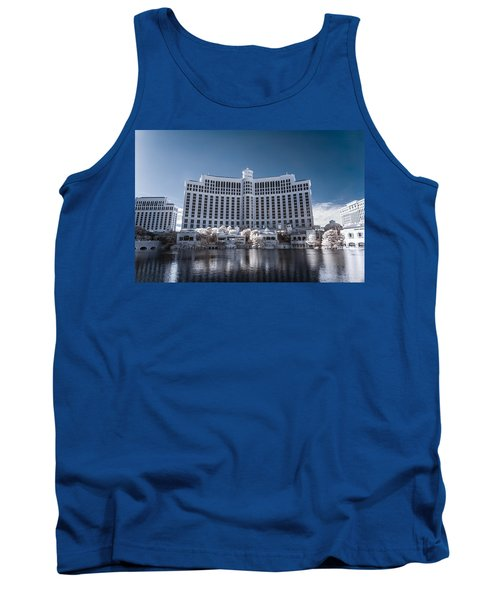 The Bellagio Hotel And Casino In Infrared Tank Top