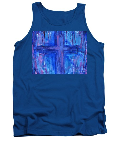 Tank Top featuring the painting The Crossroads #2 by Roz Abellera Art
