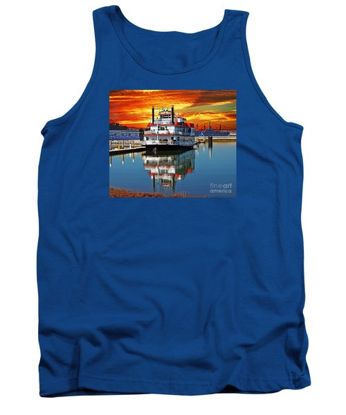The End Of A Beautiful Day In The San Francisco Bay Tank Top by Jim Fitzpatrick