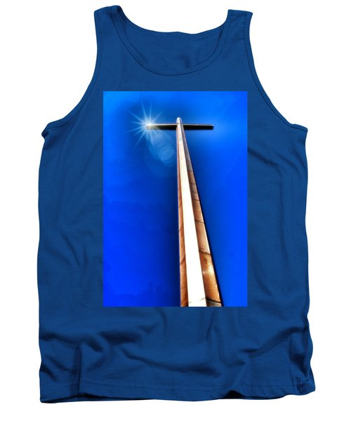 The Great Cross Of St. Augustine - Mission Nombre De Dios Tank Top