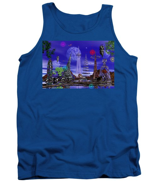 Tank Top featuring the photograph The Lakes Of Zorg by Mark Blauhoefer