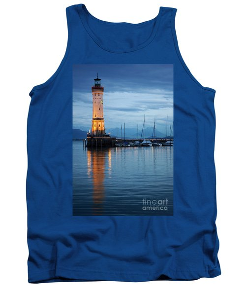 The Lighthouse Of Lindau By Night Tank Top by Nick  Biemans