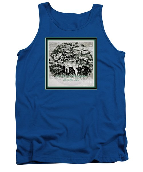 The Magic Of Christmastime In A Woodland Tank Top by Kimberlee Baxter