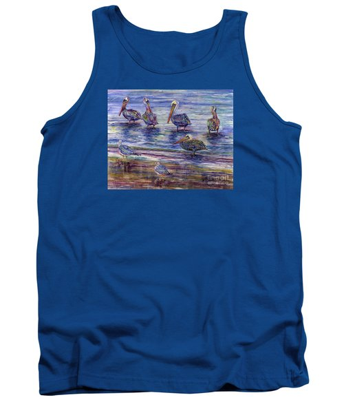 The Majestic Pelican Visit Tank Top