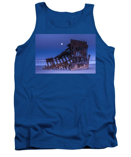 The Moon Sets Over The Wreck Tank Top