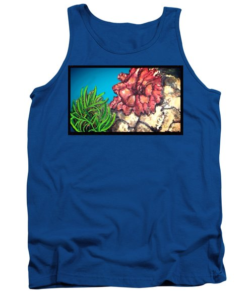The Odd Couple Two Very Different Sea Anemones Cohabitat Tank Top by Kimberlee Baxter