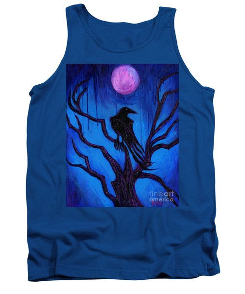 Tank Top featuring the painting The Raven Nevermore by Roz Abellera Art
