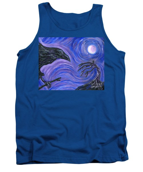 Tank Top featuring the painting The Raven by Roz Abellera Art