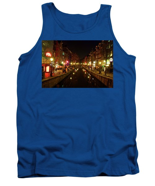 Tank Top featuring the photograph The Red Lights Of Amsterdam by Jonah  Anderson