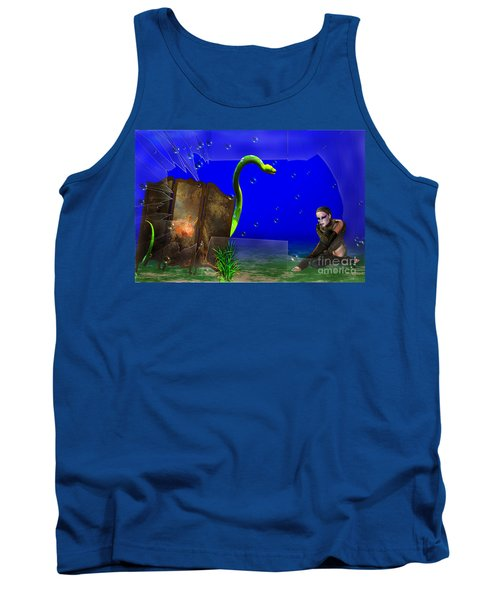 Tank Top featuring the digital art The Scent Of The Girl  by Liane Wright