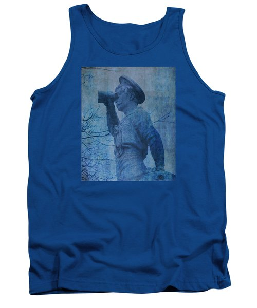The Seaman In Blue Tank Top by Lesa Fine