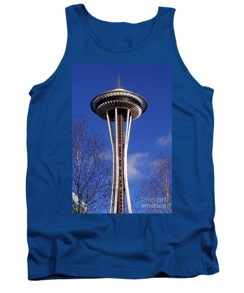 Tank Top featuring the photograph The Symbol Of Seattle by Kathy  White