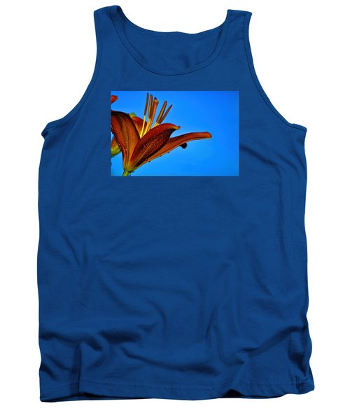 Thirsty Lily In Hdr Art Tank Top by Lesa Fine