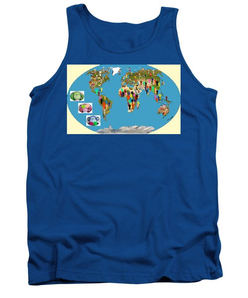Three Monkeys And Hunger Tank Top