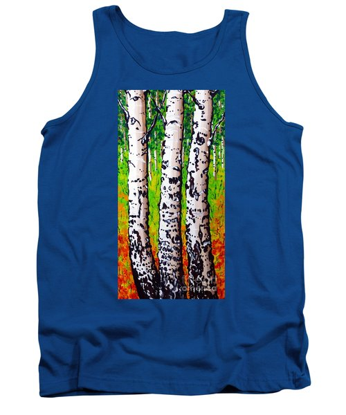 Tank Top featuring the painting Tom Dick And Harry by Jackie Carpenter