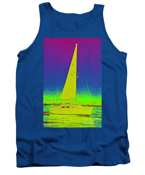 Tom Ray's Sailboat Tank Top by First Star Art