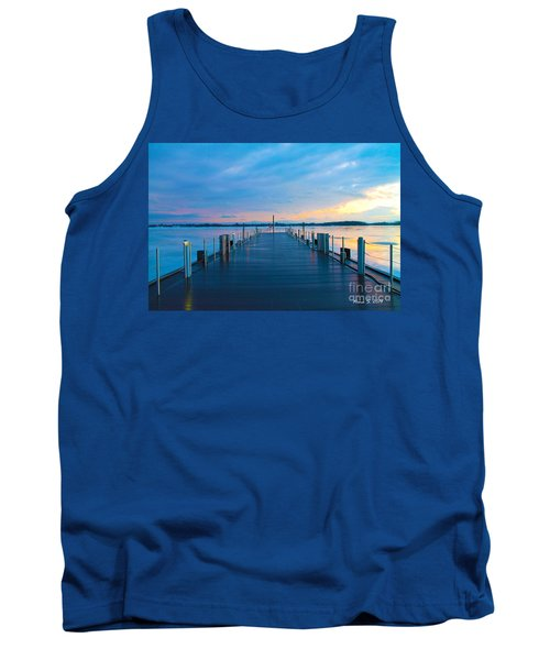 Tank Top featuring the photograph Toronto Pier During A Winter Sunset by Nina Silver