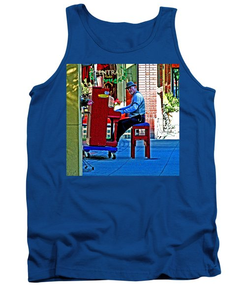 Traveling Piano Player Tank Top