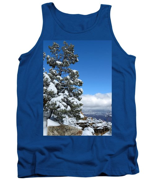 Tank Top featuring the photograph Tree At The Grand Canyon by Laurel Powell