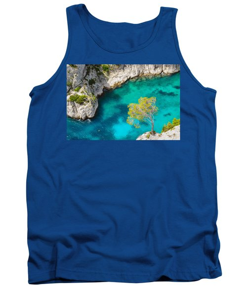 Tree On Turquoise Waters Tank Top