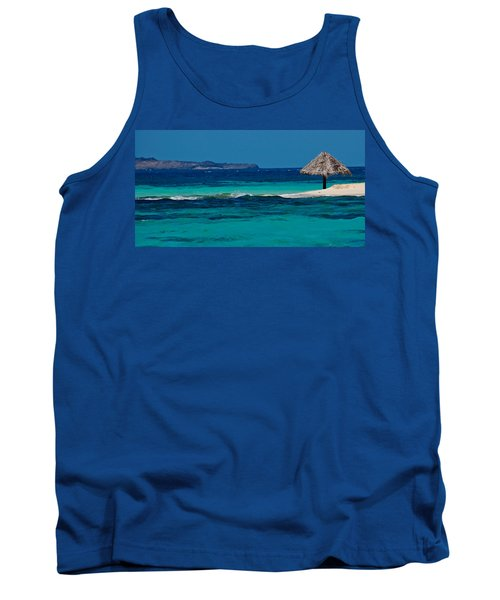 Tank Top featuring the photograph Tropical Umbrella by Don Schwartz