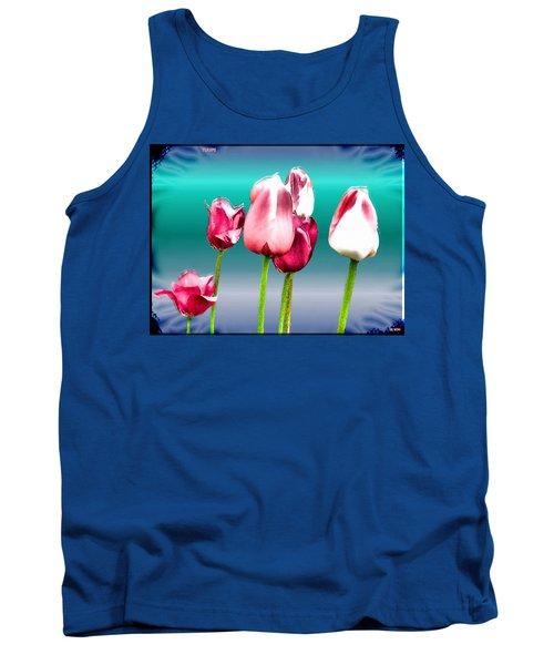 Tank Top featuring the digital art Tulips by Daniel Janda