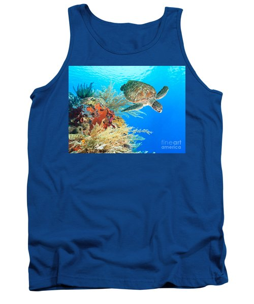 Turtle And Coral Tank Top