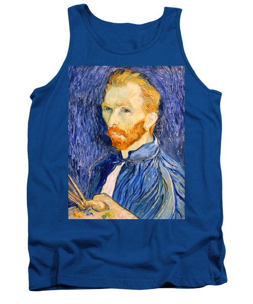 Tank Top featuring the photograph Van Gogh On Van Gogh by Cora Wandel