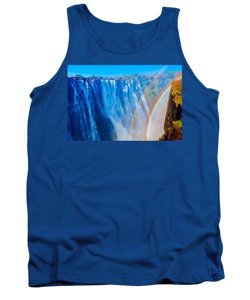 Victoria Falls Double Rainbow Tank Top by Jeff at JSJ Photography