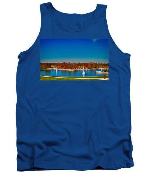 Tank Top featuring the photograph View From Art Hill Forest Park Missouri by Peggy Franz