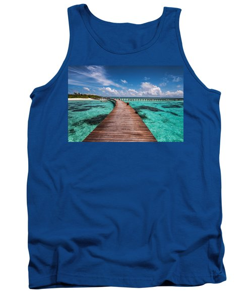Walk Over The Water Tank Top by Jenny Rainbow