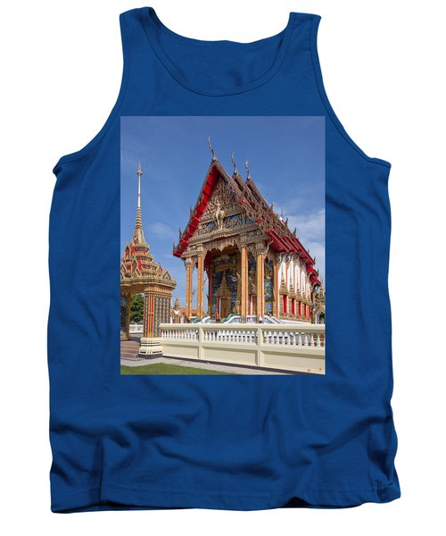 Tank Top featuring the photograph Wat Choeng Thalay Ordination Hall Dthp138 by Gerry Gantt