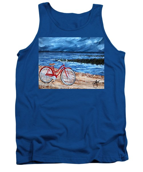 Tank Top featuring the painting Watching The Storm by Jackie Carpenter