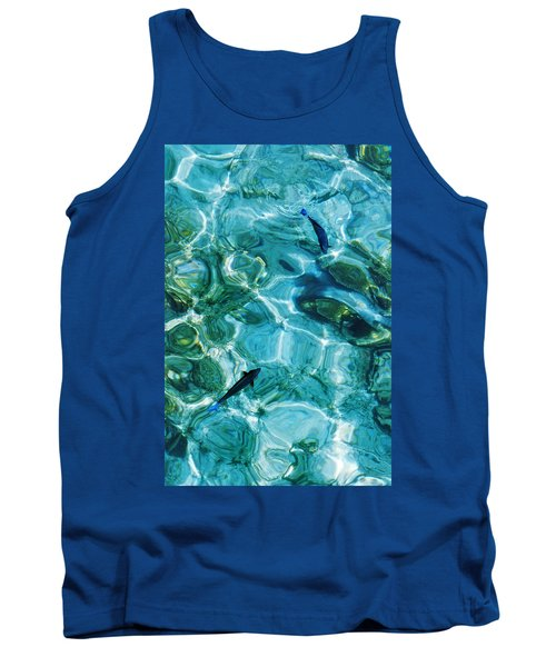 Water Meditation II. Five Elements. Healing With Feng Shui And Color Therapy In Interior Design Tank Top