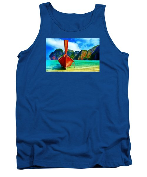 Watermarked-a Dreamy Version Collection Tank Top by Catherine Lott