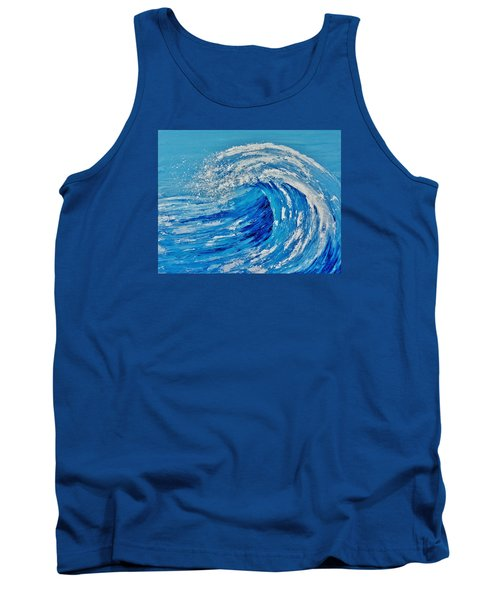 Tank Top featuring the painting Wave by Katherine Young-Beck