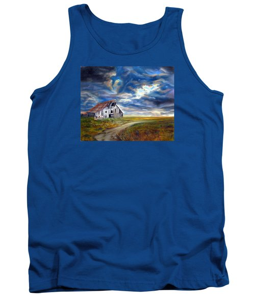 Weathered Barn Tank Top by LaVonne Hand