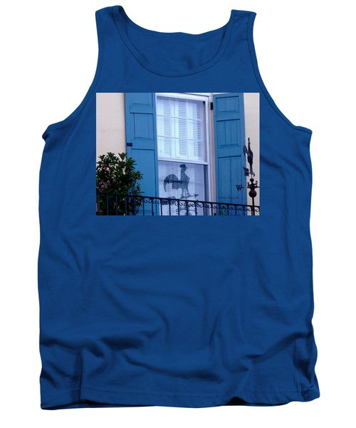 Charleston Weathervane Reflection Tank Top by Kathy Barney
