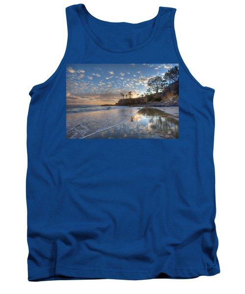 Wet Sand Reflections Laguna Beach Tank Top
