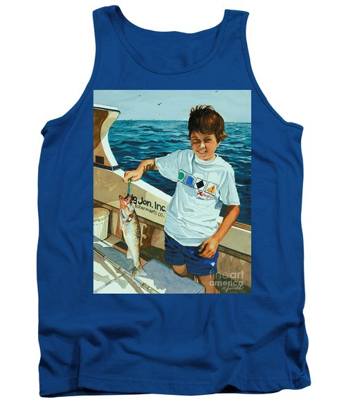 Tank Top featuring the painting What A Catch by Barbara Jewell