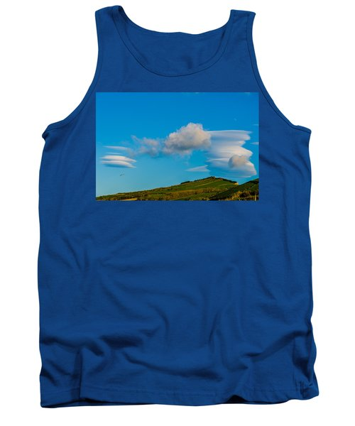 White Clouds Form Tornado Tank Top
