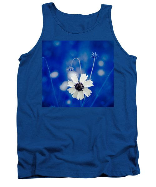 White Flower Tank Top
