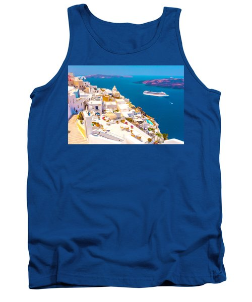 White Houses Of Santorini Tank Top