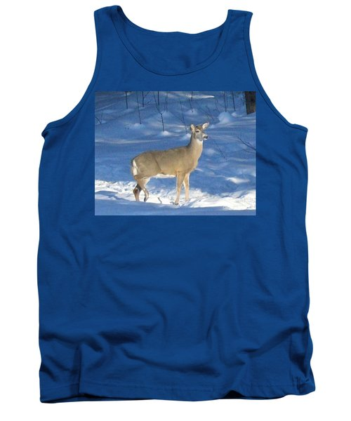 Tank Top featuring the photograph White Tail Deer by Brenda Brown